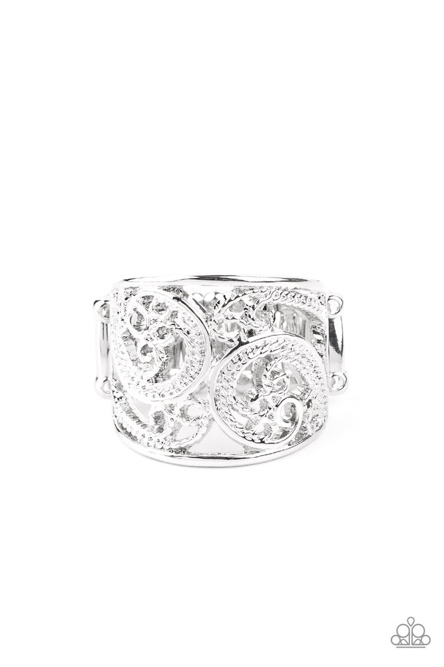 Turning The Tides - Silver - Paparazzi Ring Image