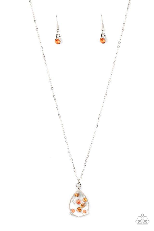 Stormy Shimmer - Orange - Paparazzi Necklace Image
