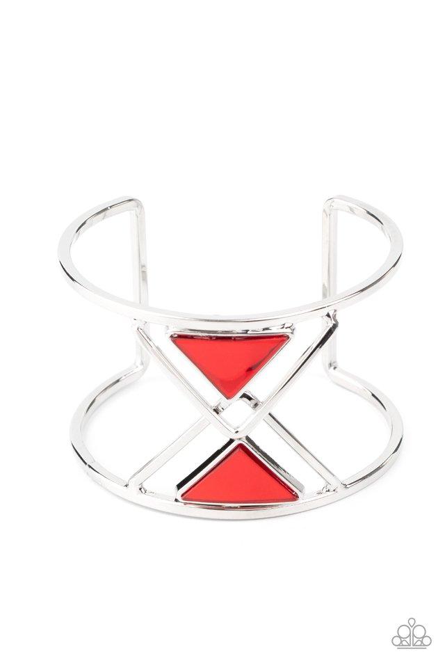 Pyramid Palace - Red - Paparazzi Bracelet Image