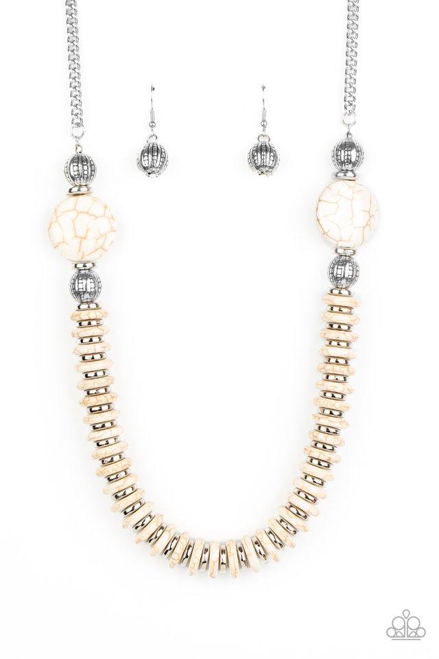 Desert Revival - White - Paparazzi Necklace Image