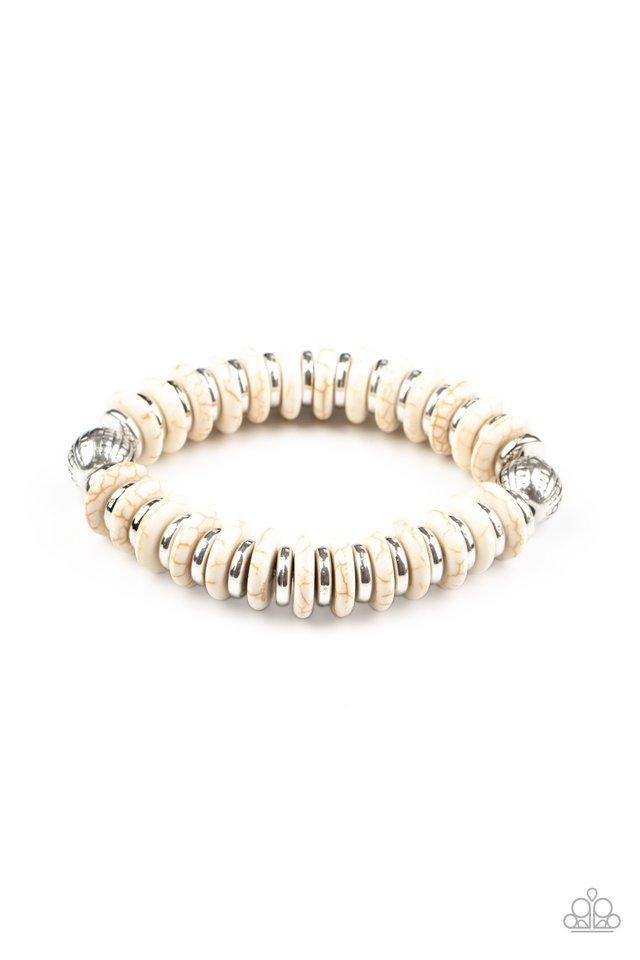 Eco Experience - White - Paparazzi Bracelet Image