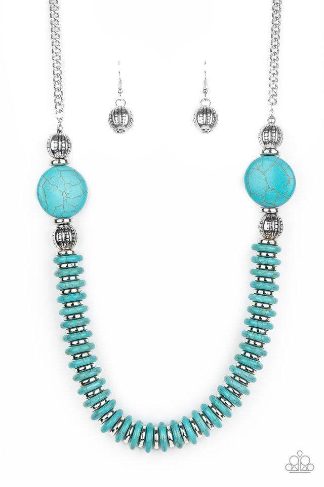 Desert Revival - Blue - Paparazzi Necklace Image