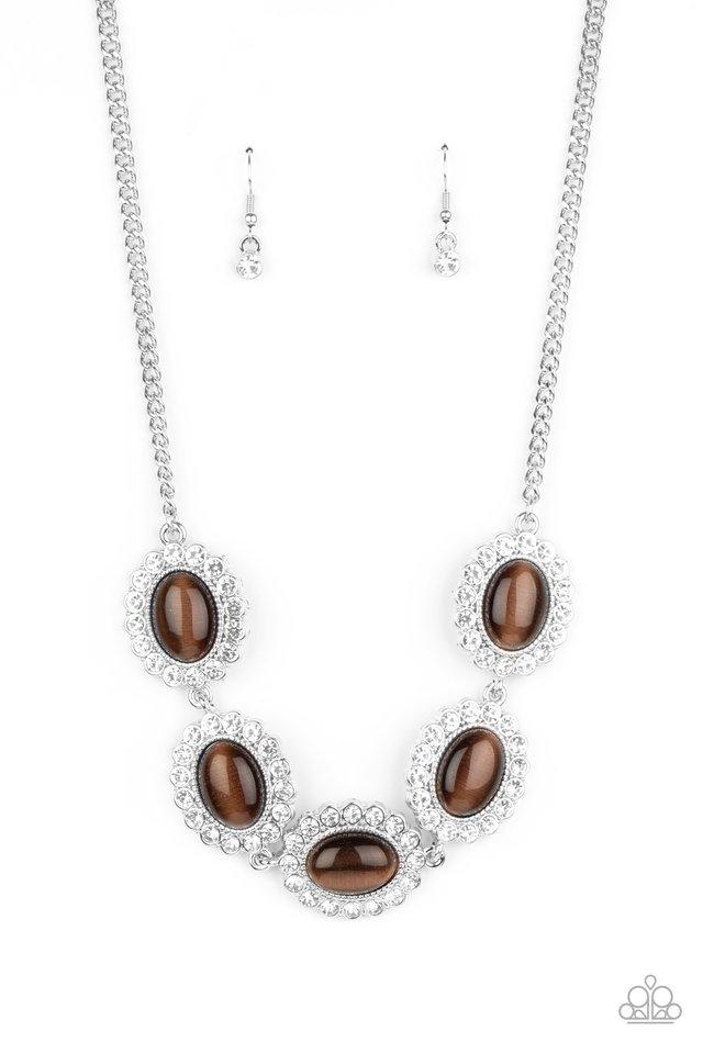 A DIVA-ttitude Adjustment - Brown - Paparazzi Necklace Image