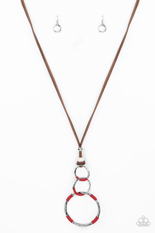Rural Renovation - Red - Paparazzi Necklace Image