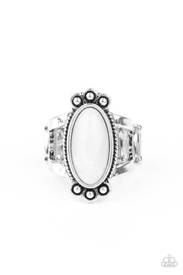 Psychedelic Deserts - White - Paparazzi Ring Image