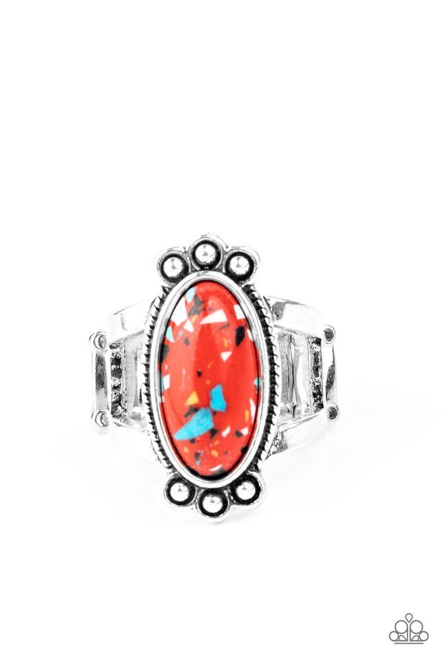 Psychedelic Deserts - Red - Paparazzi Ring Image