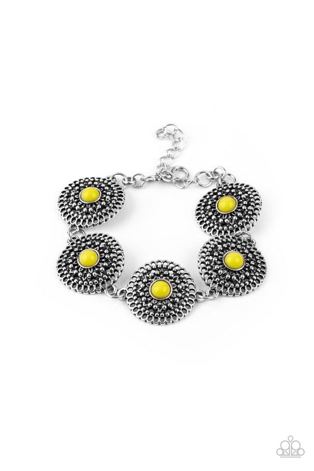 Mojave Mandalas - Yellow - Paparazzi Bracelet Image