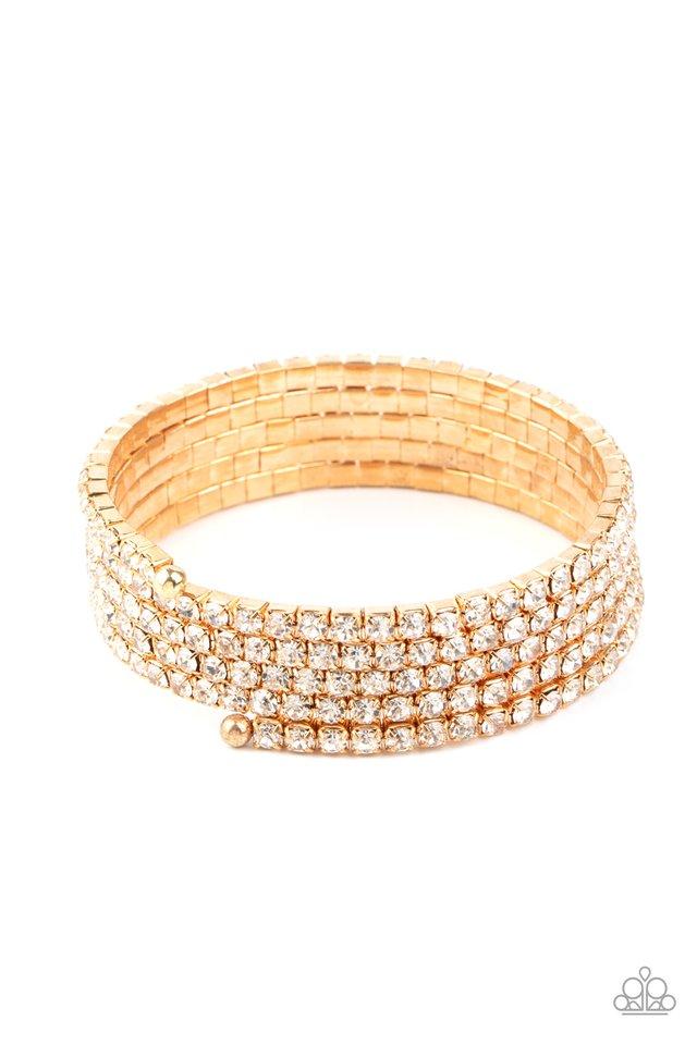 The GLOW-Digger - Gold - Paparazzi Bracelet Image