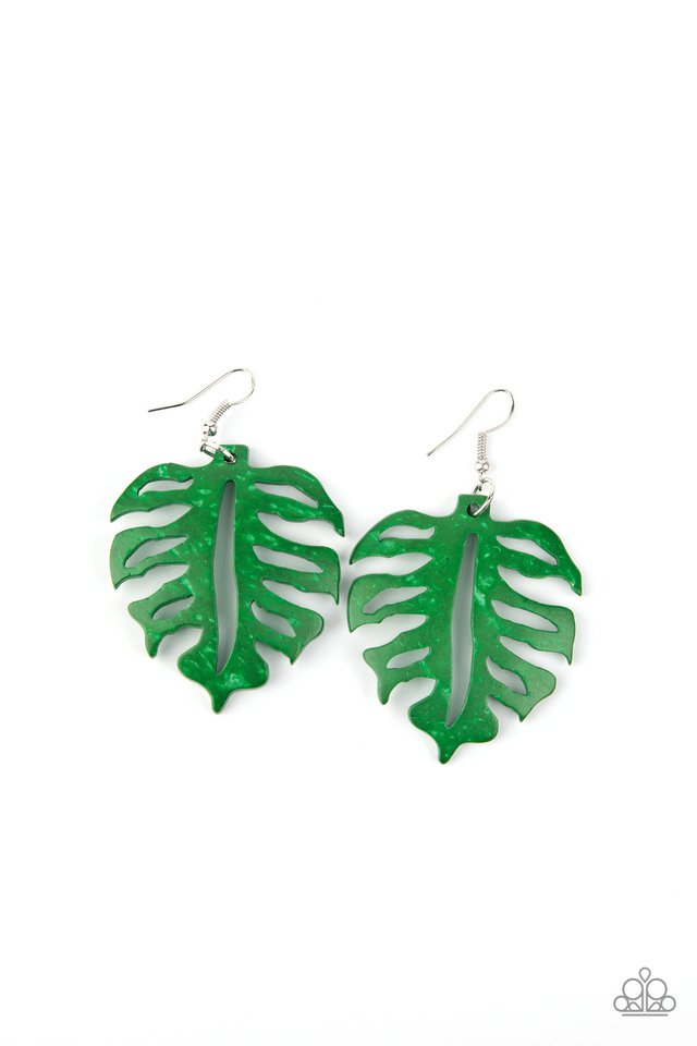 Shake Your PALMS PALMS - Green - Paparazzi Earring Image
