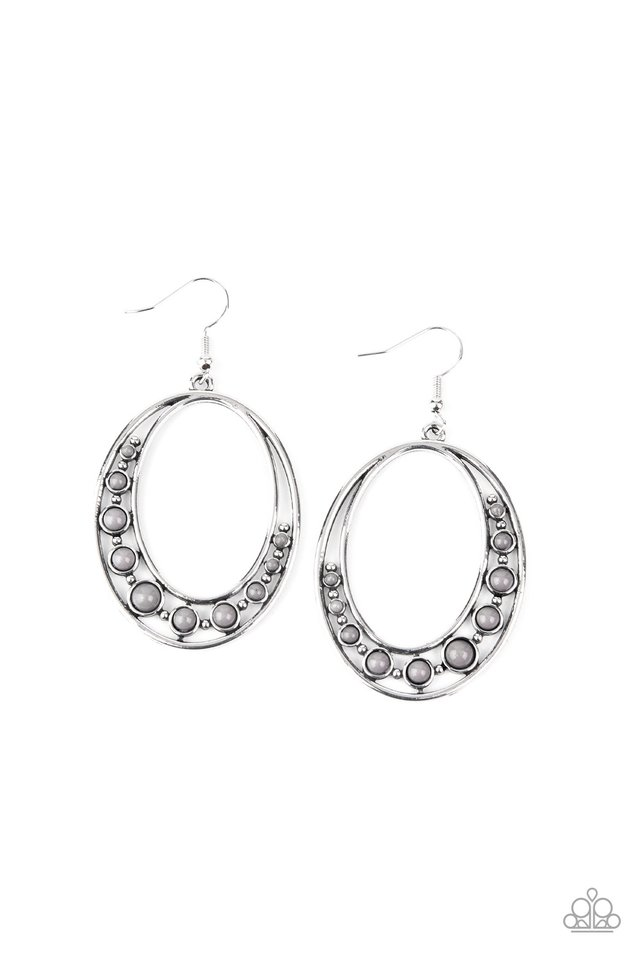 Crescent Cove - Silver - Paparazzi Earring Image