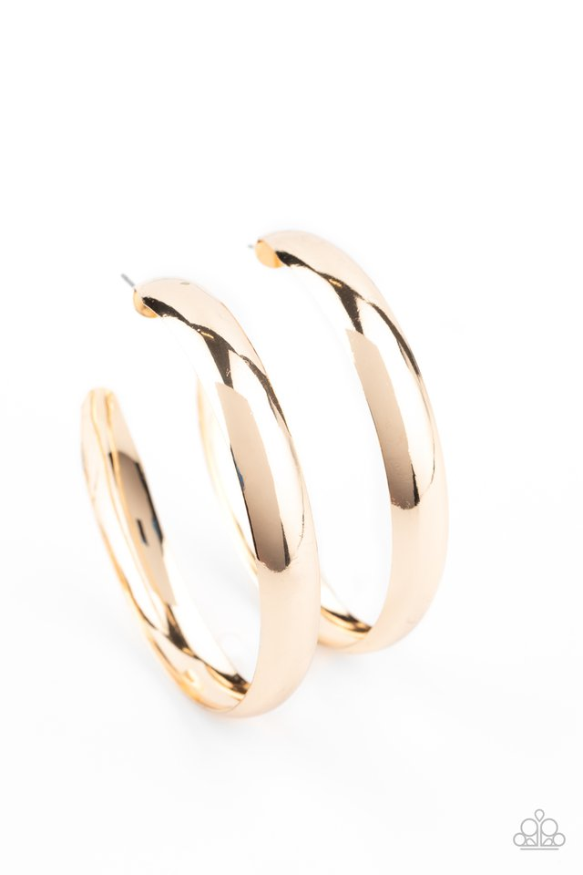 BEVEL In It - Gold - Paparazzi Earring Image