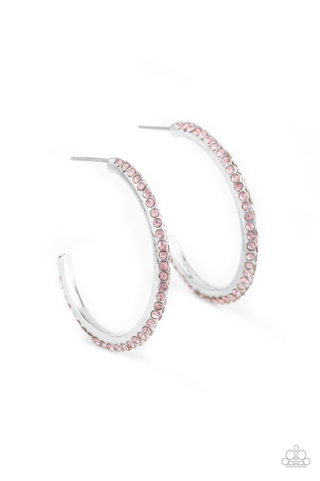Dont Think Twice - Pink - Paparazzi Earring Image