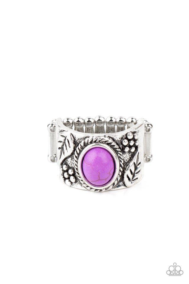 Free-Spirited Fields - Purple - Paparazzi Ring Image