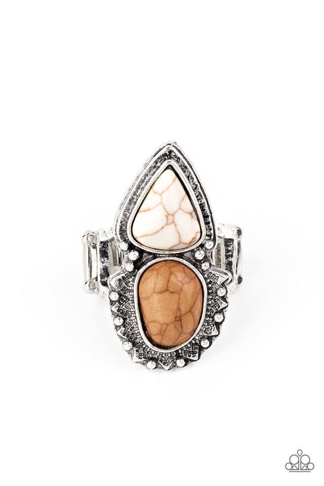 Mojave Mosaic - Brown - Paparazzi Ring Image