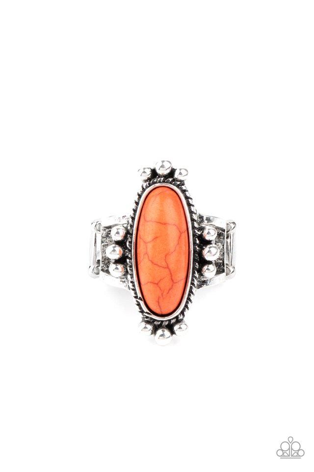 Pioneer Paradise - Orange - Paparazzi Ring Image