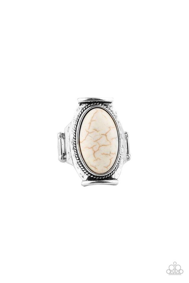 Desert Healer - White - Paparazzi Ring Image