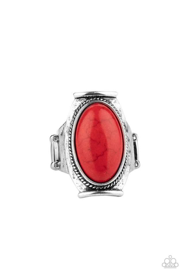 Desert Healer - Red - Paparazzi Ring Image