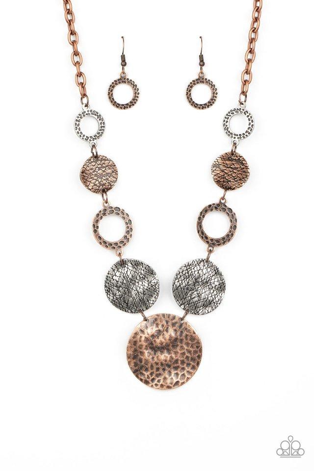 Terra Adventure - Copper - Paparazzi Necklace Image