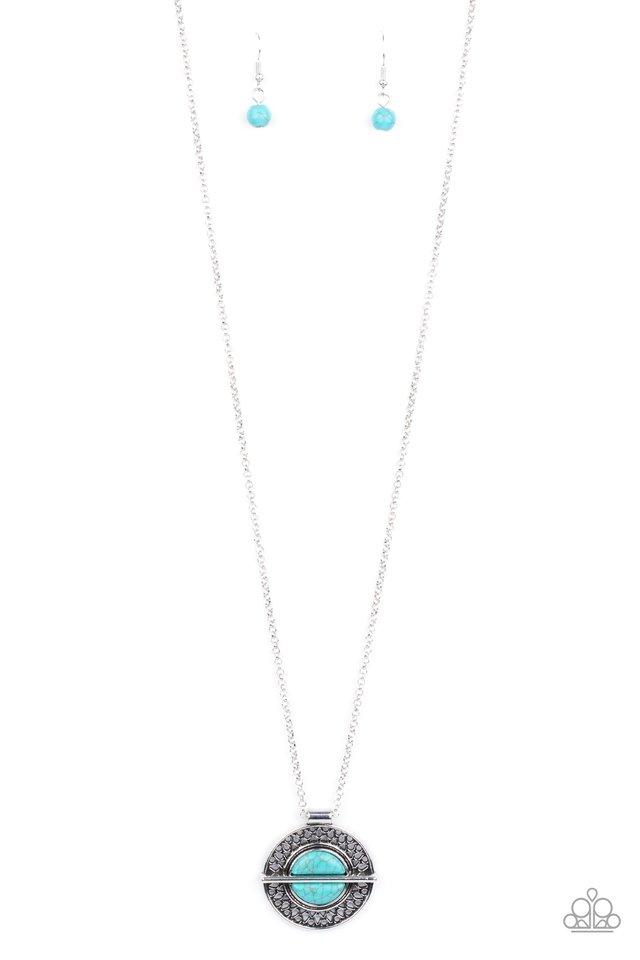 Adobe Adornment - Blue - Paparazzi Necklace Image