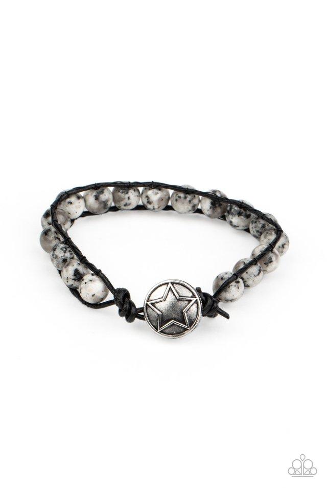 Homespun Stones - White - Paparazzi Bracelet Image