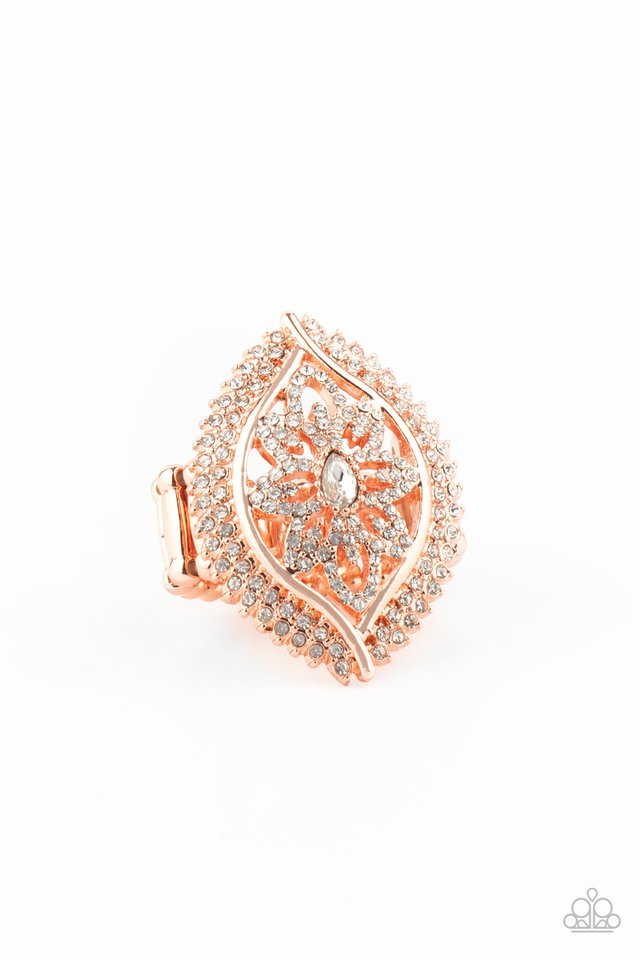Glammed Up Gardens - Copper - Paparazzi Ring Image
