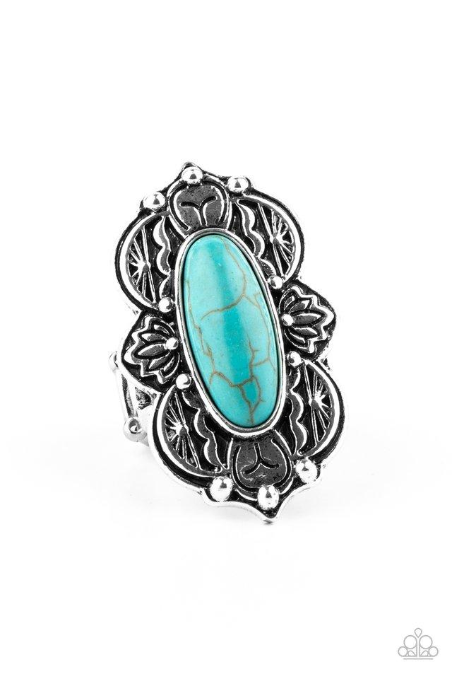 Lotus Oasis - Blue - Paparazzi Ring Image