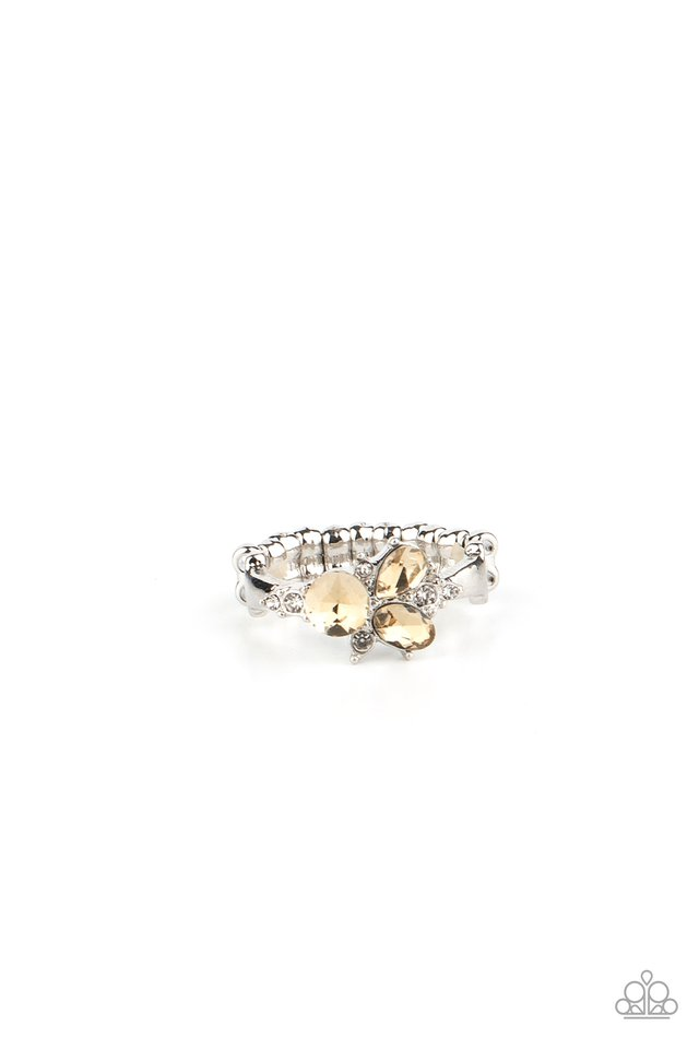 Here You GLOW - Brown - Paparazzi Ring Image