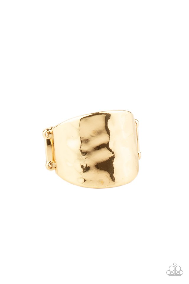 Check Your Reflection - Gold - Paparazzi Ring Image