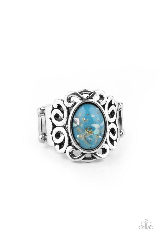 Straight To The POP! - Blue - Paparazzi Ring Image