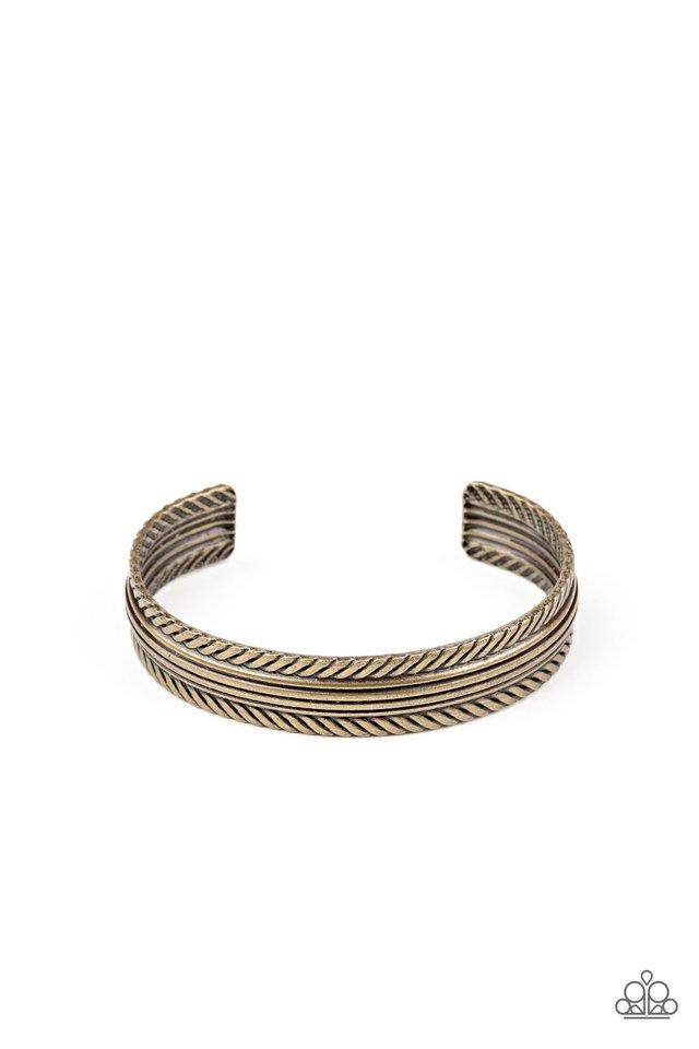 METALHEAD Over Heels - Brass - Paparazzi Bracelet Image