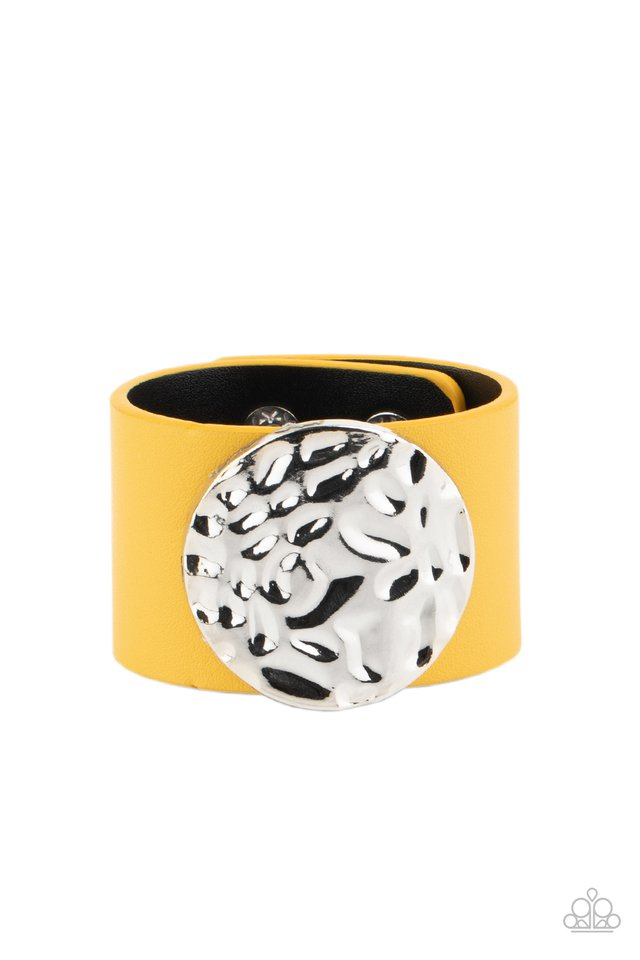The Future Looks Bright - Yellow - Paparazzi Bracelet Image