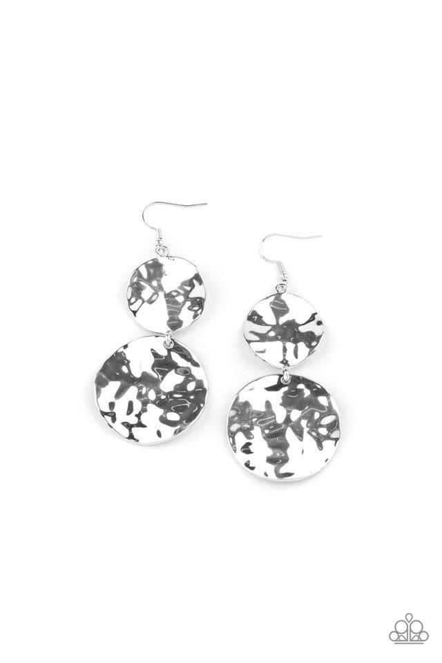 HARDWARE-Headed - Silver - Paparazzi Earring Image