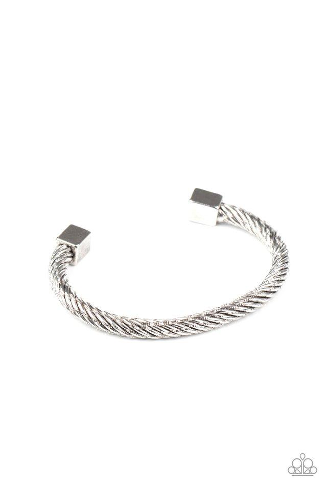 Block It Out - Silver - Paparazzi Bracelet Image