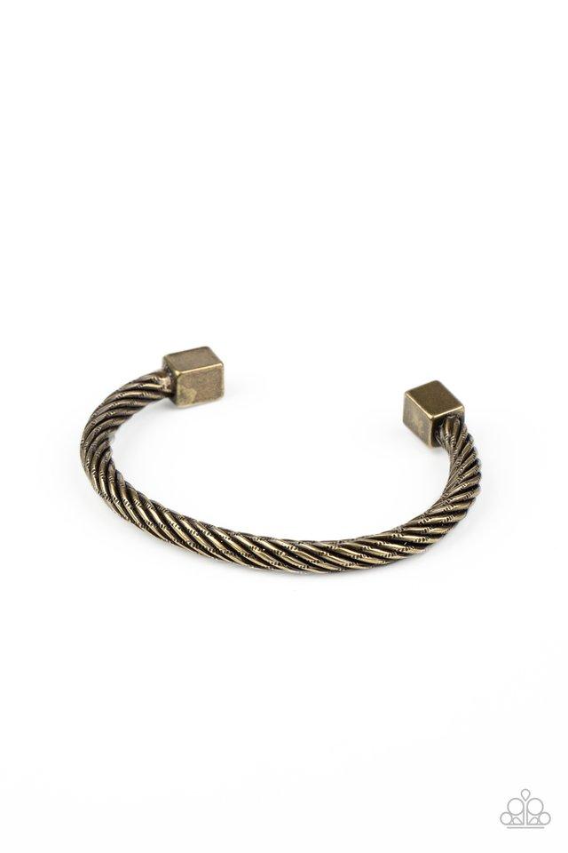 Block It Out - Brass - Paparazzi Bracelet Image