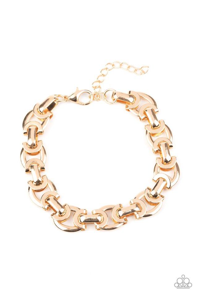 Advisory Warning - Gold - Paparazzi Bracelet Image