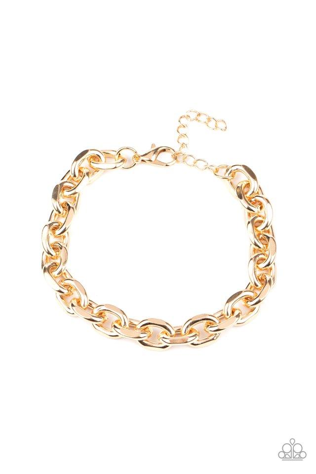 Titanium Titan - Gold - Paparazzi Bracelet Image