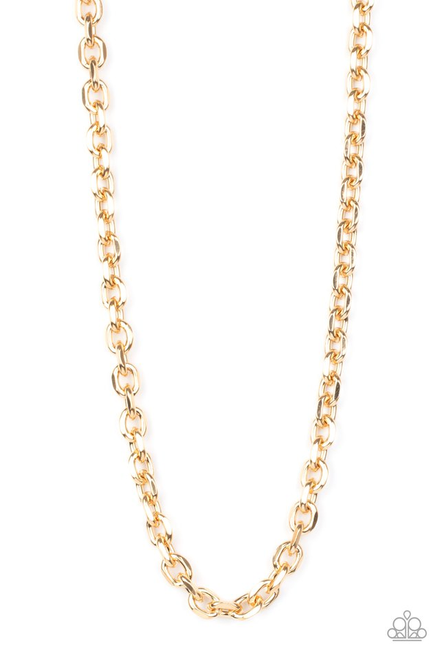 Steel Trap - Gold - Paparazzi Necklace Image
