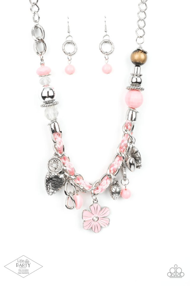 Charmed, I Am Sure - Pink - Paparazzi Necklace Image