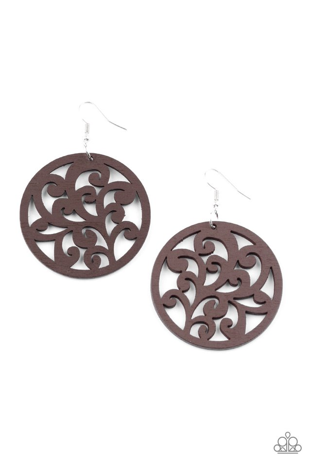 Fresh Off The Vine - Brown - Paparazzi Earring Image