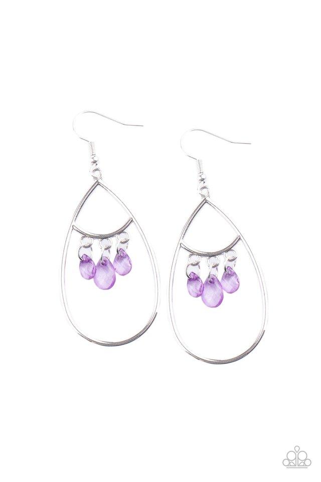 Shimmer Advisory - Purple - Paparazzi Earring Image