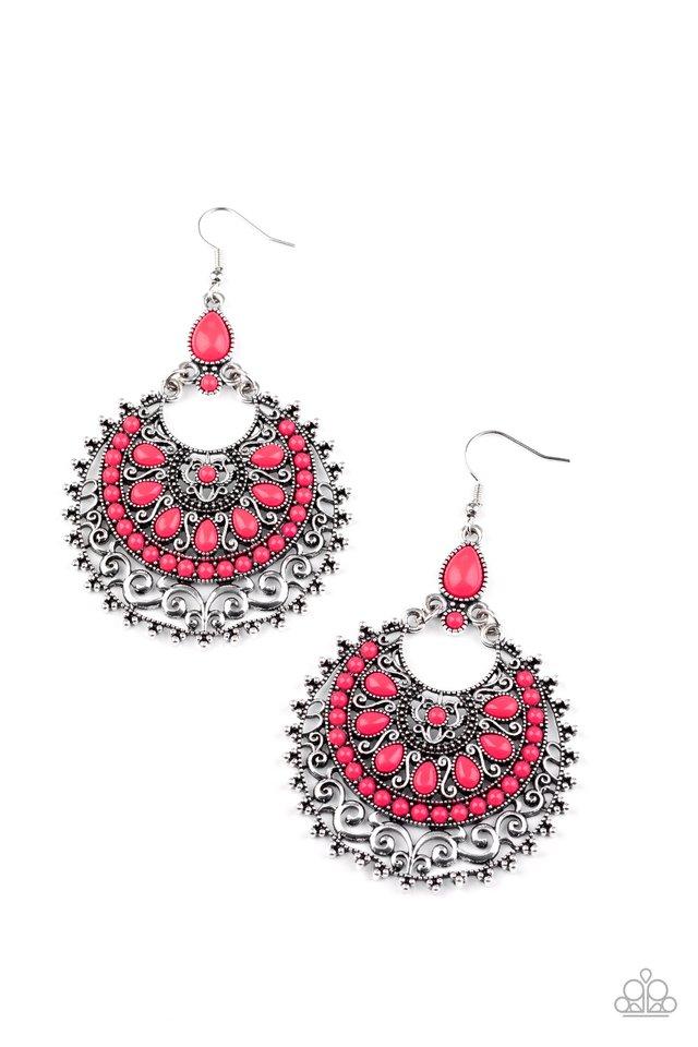Laguna Leisure - Pink - Paparazzi Earring Image