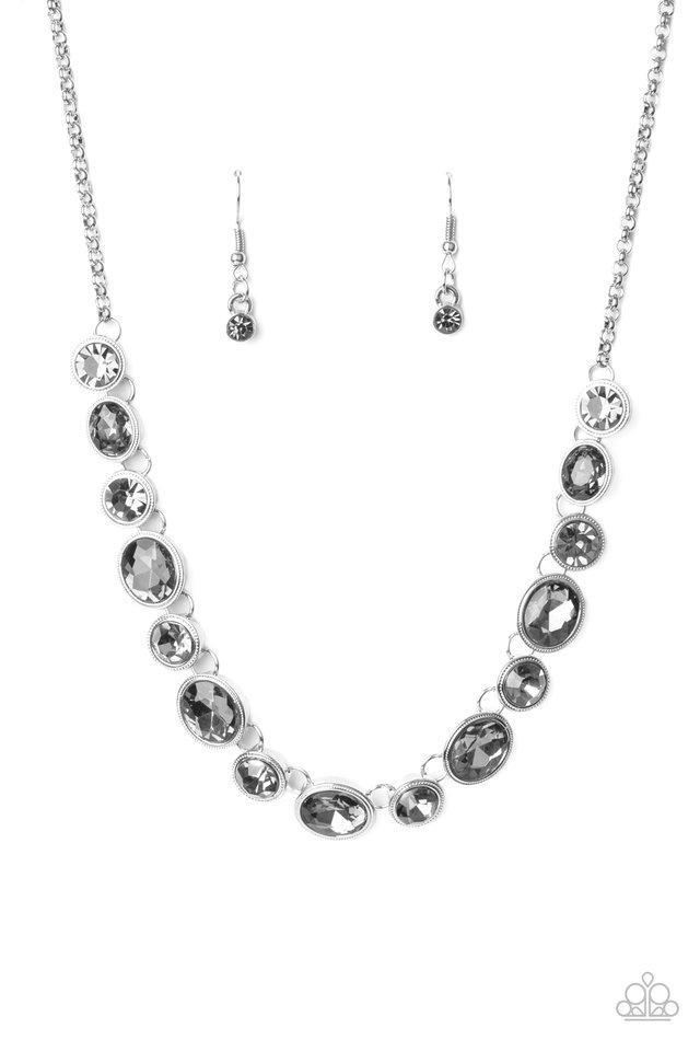 Girls Gotta Glow - Silver - Paparazzi Necklace Image
