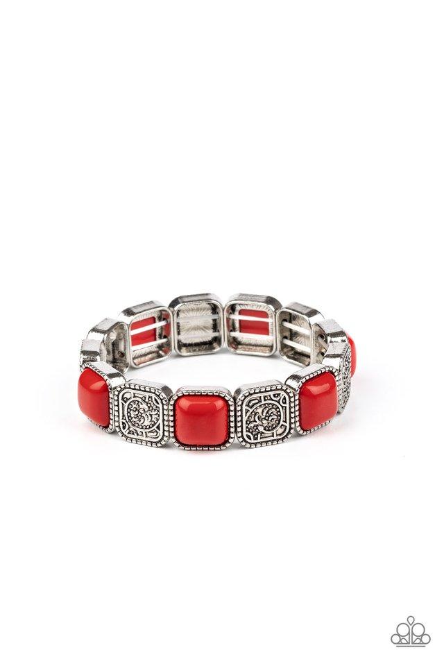 Trendy Tease - Red - Paparazzi Bracelet Image