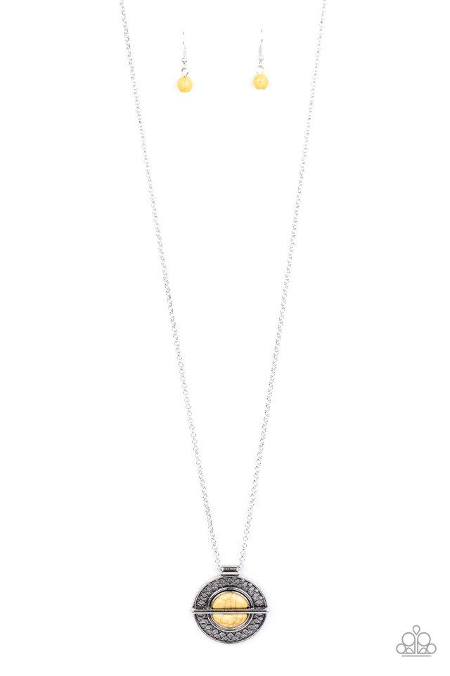 Adobe Adornment - Yellow - Paparazzi Necklace Image