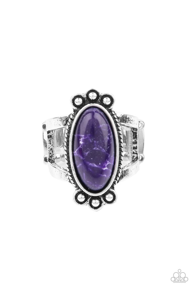 Psychedelic Deserts - Purple - Paparazzi Ring Image
