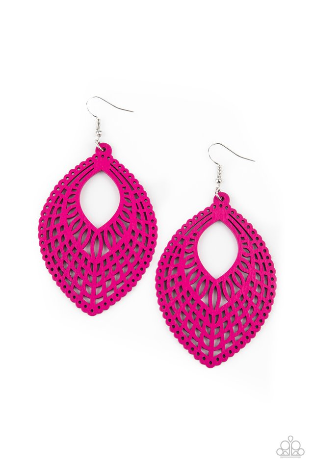 One Beach At A Time - Pink - Paparazzi Earring Image