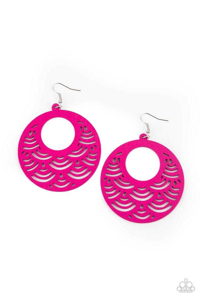 SEA Le Vie! - Pink - Paparazzi Earring Image