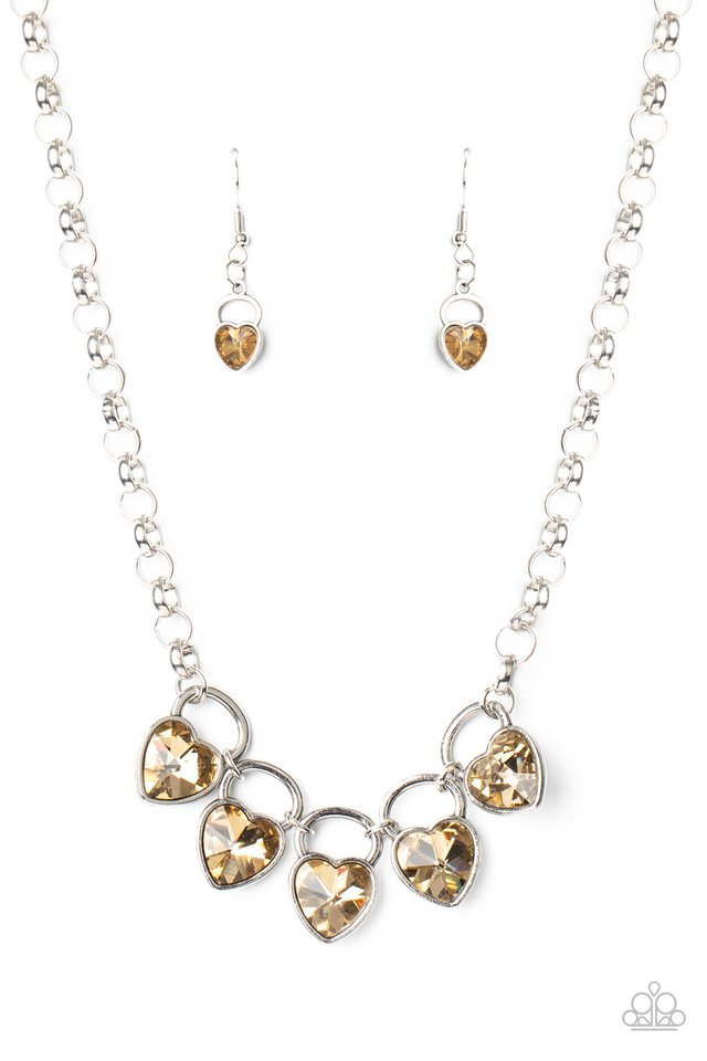 HEART On Your Heels - Brown - Paparazzi Necklace Image