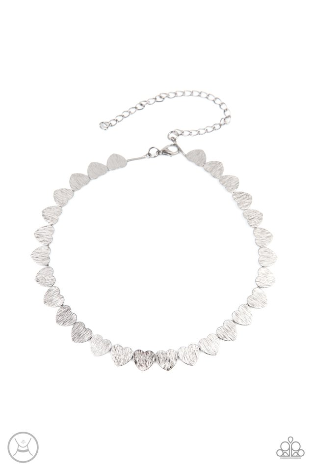 Playing HEART To Get - Silver - Paparazzi Necklace Image