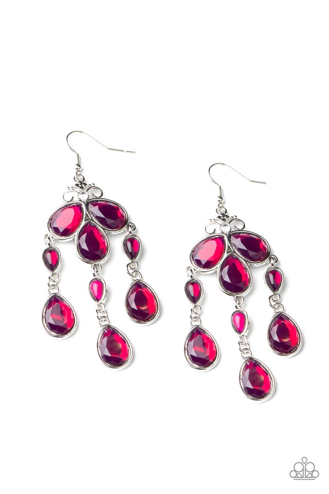 Clear The HEIR - Purple - Paparazzi Earring Image
